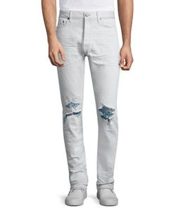 John Elliott   Slim Tapered-Fit Distressed Jeans