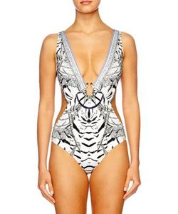 Camilla | Chinese Whispers One-Piece Cutout Swimsuit