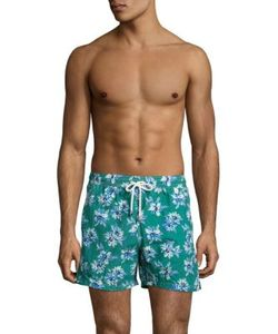 Isaia | -Print Swim Trunks