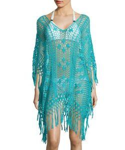 Anna Kosturova   Tassel Poncho Dress