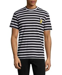 Markus Lupfer | Striped Banana Embroidered Tee