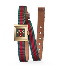 Gucci | G-Frame Wrap Strap Watch