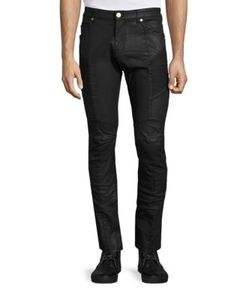 Pierre Balmain | Slim-Fit Moto Jeans