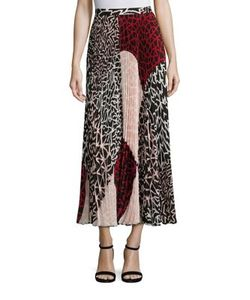 Yigal Azrouel   Printed Pleated Skirt