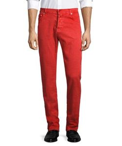 Kiton   Regular-Fit Colored Jeans
