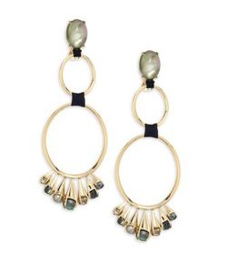 Alexis Bittar | Elements Arrayed Cluster Dangling Clip-On Earrings