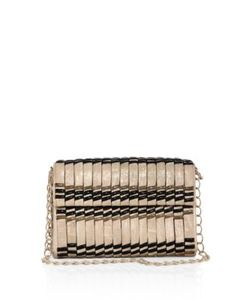 Nancy Gonzalez | Samurai Woven Stripe Crocodile Double-Chain Shoulder Bag