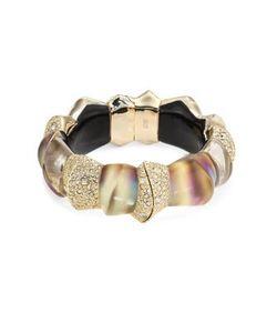 Alexis Bittar | Lucite Crystal-Encrusted Sculptural Hinge Bracelet