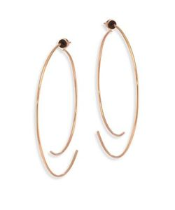 Diane Kordas | Armour 18k Curved Open Hoop Earrings/2.5