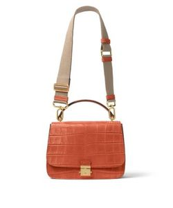 Michael Kors Collection | Mia Crocodile Shoulder Satchel