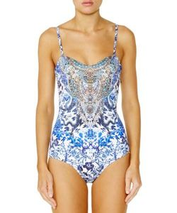 Camilla | Chinese Whispers Bandeau One-Piece Swimsuit