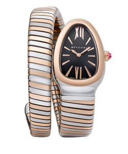 BVLGARI | Serpenti 18k Stainless Steel Tubogas Bracelet Watch