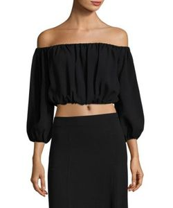 Theory | Waleska Rosina Off-The-Shoulder Cropped Top