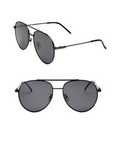 Fendi | 55mm Aviator Sunglasses