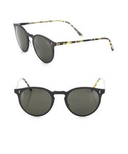 Oliver Peoples | Elias 49mm Patterned Round Sunglasses