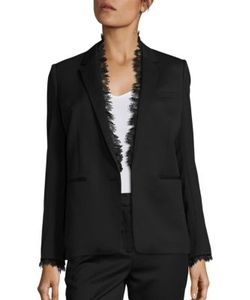 The Kooples | Smoking Lace Trimmed Suit Jacket