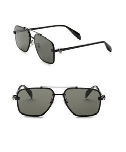 Alexander McQueen | 60mm Modified Rectangle Sunglasses