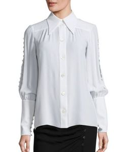 Michael Kors Collection | Button Sleeve Silk Blouse