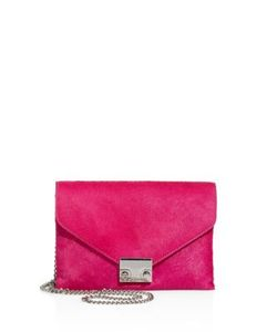 Loeffler Randall | Mini Signature Lock Leather Crossbody Clutch