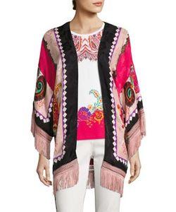 Etro | Fringed Silk Kimono Poncho