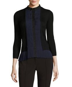 Yigal Azrouel | Pleated Cashmere-Blend Cardigan