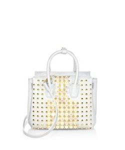 MCM | Milla Mini Pearly Studded Leather Tote