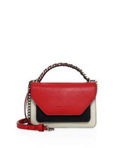 Elena Ghisellini | Eclipse Colorblock Leather Shoulder Bag