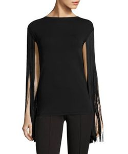 Michael Kors Collection | Fringe Trimmed Tee