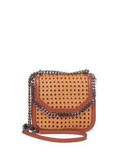 Stella McCartney | Falabella Box Wicker Basket Crossbody Bag