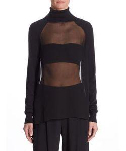 Ralph Lauren Collection | Silk-Blend Sheer Top