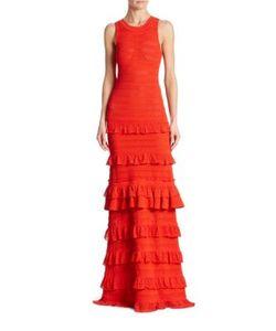 Oscar de la Renta | Tiered Ruffle Gown