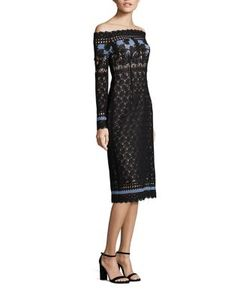 Yigal Azrouel | Off-The-Shoulder Lace Dress