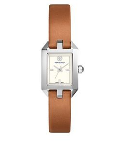Tory Burch | Dalloway Silvertone Stainless-Steel And Leather Strap Watch