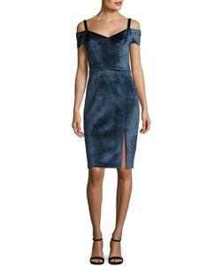 Yigal Azrouel   Cold Shoulder Velvet Dress