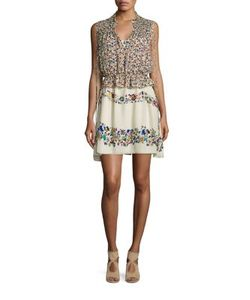 Derek Lam 10 Crosby | Two-Piece Print Silk Dress Top