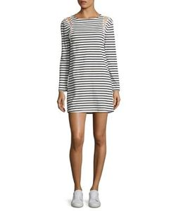 A.L.C. | Chapman Striped Lace-Up Cotton Dress