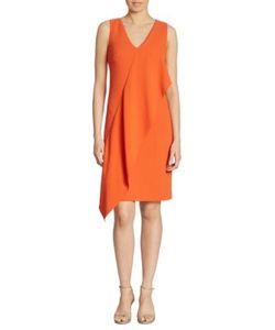 Ralph Lauren Collection | Lucianna Draped V-Neck Dress