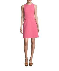Michael Kors Collection | Solid Cotton-Blend Dress