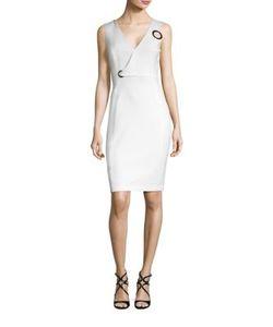 Versace Collection | V-Neck Grommet Dress