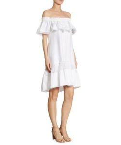 Alberta Ferretti   Off-The-Shoulder Cotton Dress
