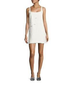 Sandy Liang   Marin Swarovski Embossed Dress