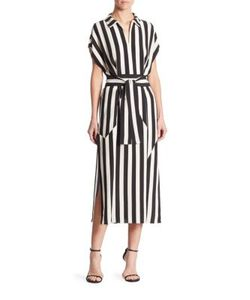 Akris | Untitled Stripe Silk Crepe Dress