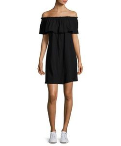 Current/Elliott | Cotton Ruffle Off-The-Shoulder Dress