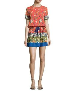 Tory Burch   Jessie Print Pima Cotton T-Shirt Dress