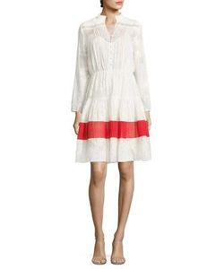 Saloni | Alyssa Jacquard Fit--Flare Dress