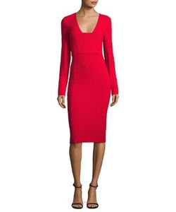 Antonio Berardi | Wool Deep V-Neck Dress