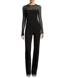 Michael Kors Collection | Wool Lace Jumpsuit