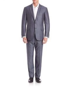 Brioni   Wool Silk Button Front Suit