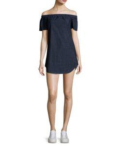 3X1 | Clark Off-The-Shoulder Denim Dress