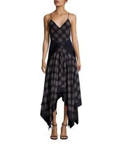 Diane von Furstenberg | Colorblock Silk Midi Dress